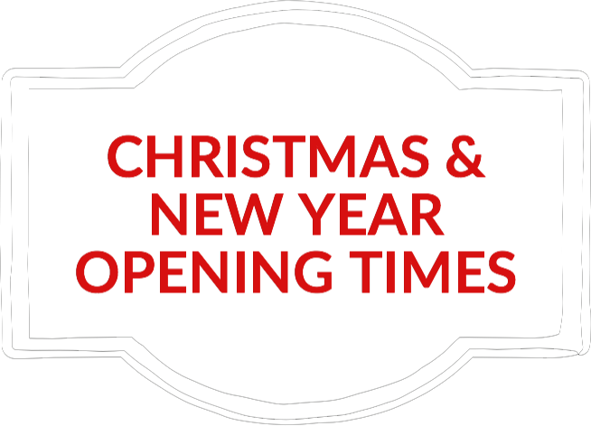 Christmas and New Year shop opening times
