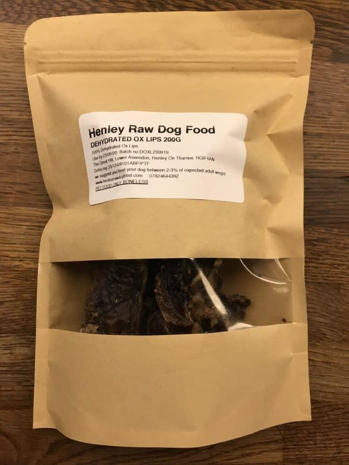 Dehdrated Ox Lips Raw Dog Food